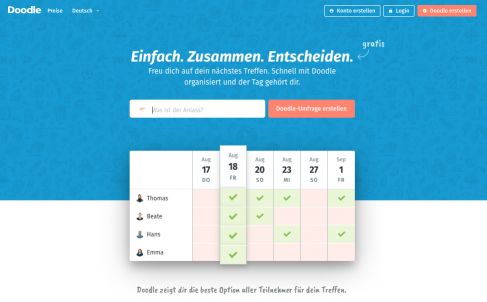 Investition in Kalender-Tools – Tamedia und Doodle im Strategie-Talk